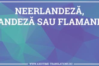 Neerlandeza, olandeza sau flamanda
